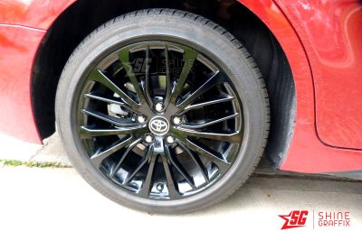 2020 toyota camry Black wheels decals Sample