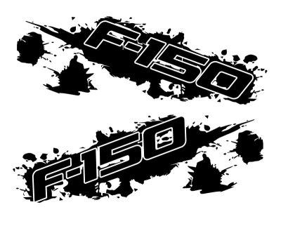 best Ford F-150 Splash Side Graphics Kit matte black sample