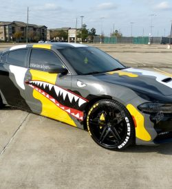 dodge charger camouflege wrap side