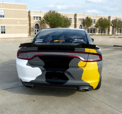 dodge charger camouflege wrap rear