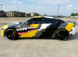 dodge charger camouflege wrap driver