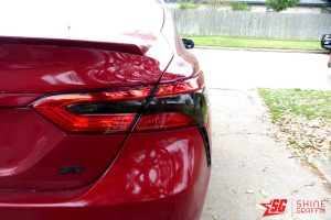 2020 Toyota Camry Tail Lights Tint Inserts Clear area