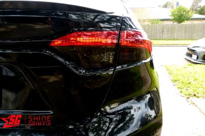 2020 Corolla Sedan Taillight Tint OVERLAYS clear area Right side