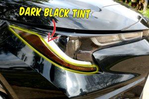 2020 Toyota Corolla Headlights Amber delete Decals tint dark black