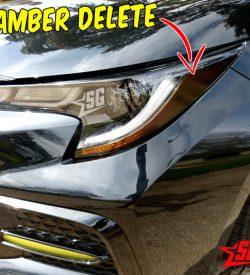 2020 Toyota Corolla Headlights Amber delete Decals tint side
