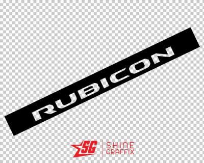 Jeep Rubicon WINDSHIELD Banner Sample