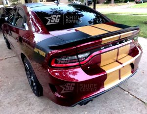 Dodge Charger Scat pack 2021 11 in Dual Racing Stripes Trunk