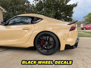 Mk5 Supra a90 A91 black wheels decals mods