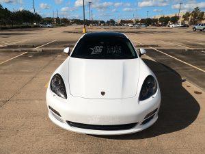 Porsche Panamera Mods tint 970 G1 Head Lights Tint Front view