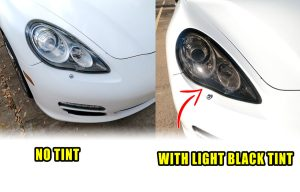 Porsche Panamera Mods tint 970 G1 Head Lights Tint kit smoked before and after