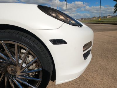Porsche Panamera Side bumper blinkers Tint Inserts mods G1