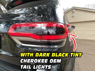 Jeep Grand Cherokee Rear Bumper Taillights Dark black out Tint inserts 4 pieces
