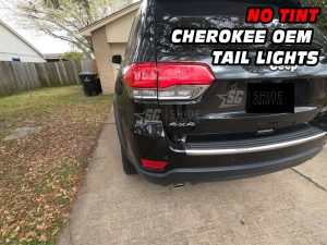 JEEP Grand Cherokee Rear Bumper Tail lights NO Tint inserts Driver side
