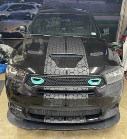 Dodge Durango Honeycomb Racing Stripes Front