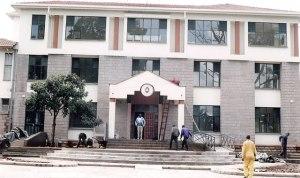 St Paul's University Library, Limuru under construction