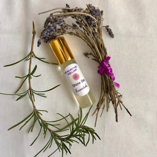 Shine Om Headache Relief roll-on has proven to eliminate headaches and tension