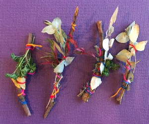 Shine Om creates Garden Wands through sensory play activities in Kids Yoga.