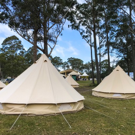 The Glamping set-up was close to the action at SCSF.