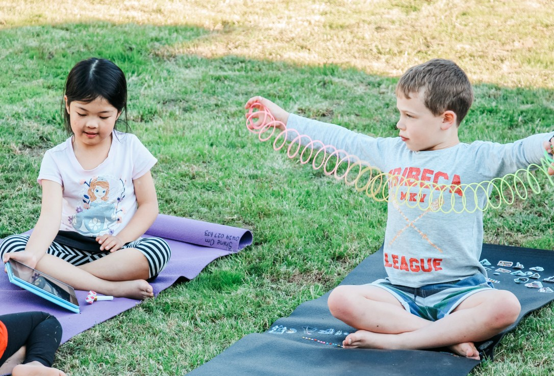 Shine Om teaches Kids how to use their breath in a free Kids Yoga Class