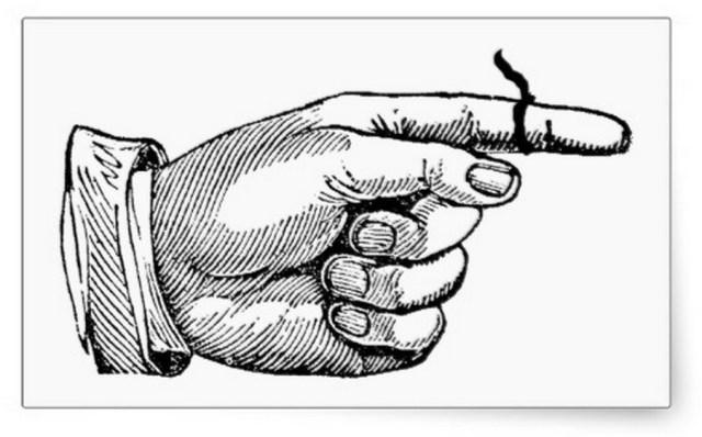 stringonfinger