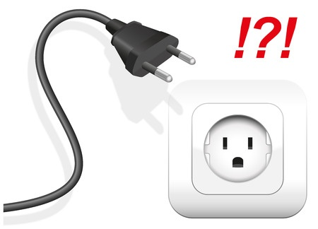 Mismatched plug and socket