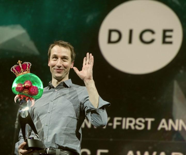 Nate Bihldorff aka #NintendoGuy at the 21st DICE Awards