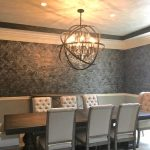 Shines Studios | Client Walls Project In A Stenciled Allover Pattern, Greys And Silvers