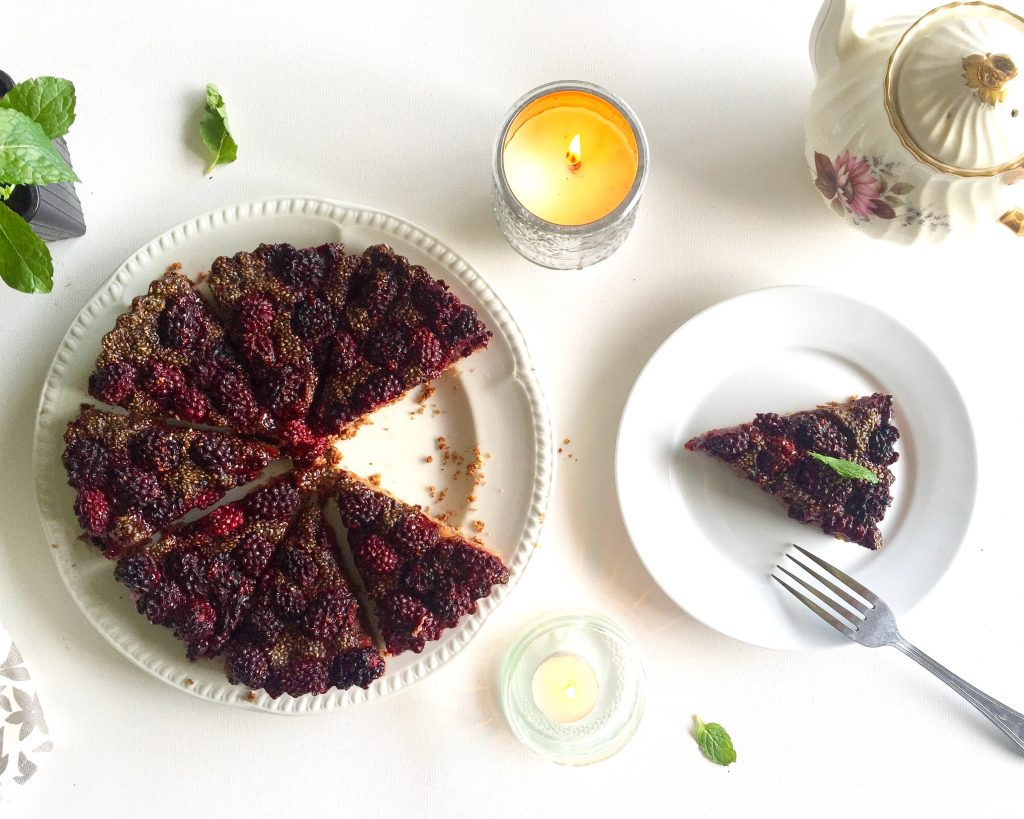 Blackberry, Pear and Chocolate Tart (Vegan & Gluten Free)