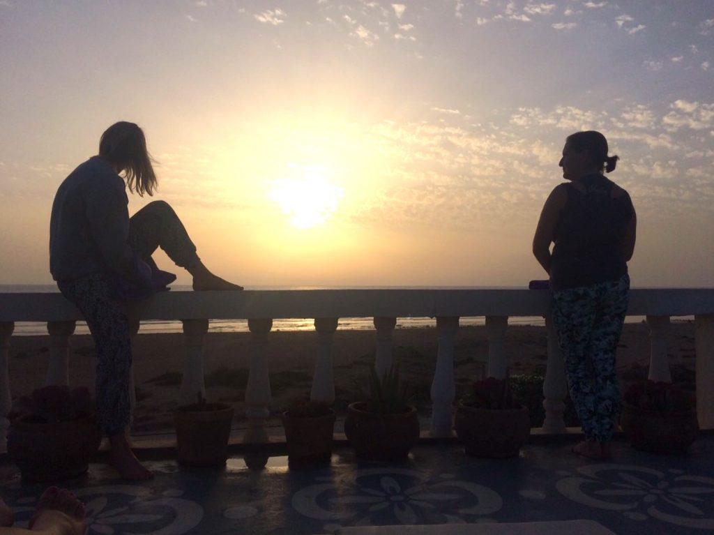 Sunset at Villa Mandala Shine Yoga retreat in Morocco
