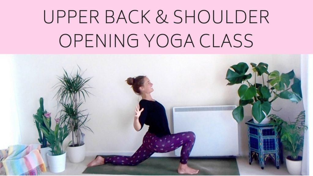 Upper Back & Shoulder Opening Online Yoga Class