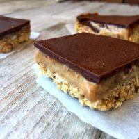 Raw Vegan Millionaires Shortbread Bites