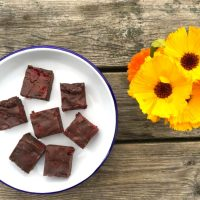 Raspberry Raw Brownies Recipe