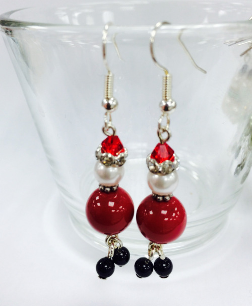 Father Christmas Earrings Kit With SWAROVSKI ELEMENTS