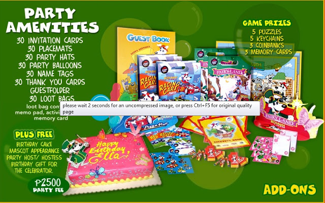 Birthday List Party Package Jollibee