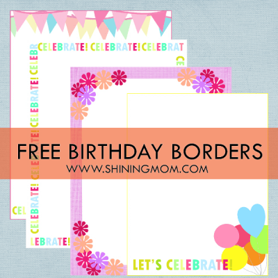 Fresh Designs: Birthday Borders for Invitations and More!