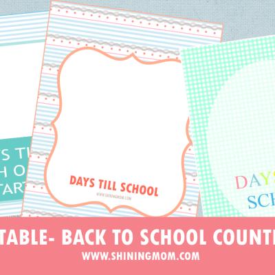 Freebie Monday: Back to School Countdown!