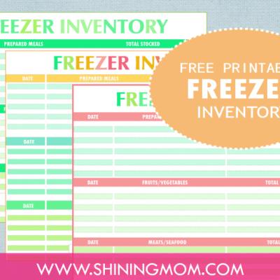 Freebie Monday: Freezer Inventory