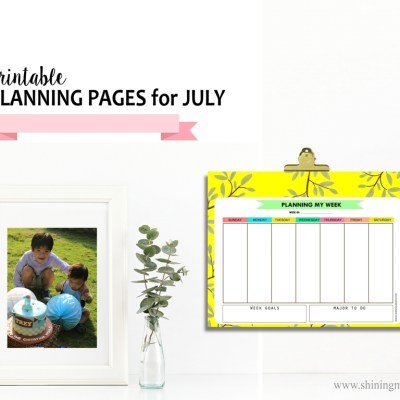 Get You Free Planner for July!