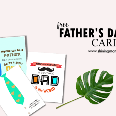 Cute Free Printable Father's Day Cards!