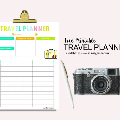 Happy Freebie Monday: A Pretty Travel Planner!