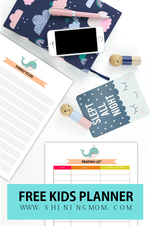 so what are the planning pages that i added in this printable kids planner - Free Kids Printable