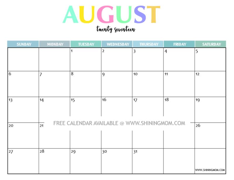 October 2017 PowerPoint Calendar - PresentationGO.com