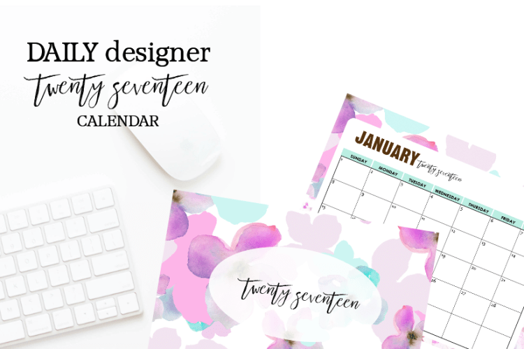 (FLASH SALE, 75% OFF- LIMITED TIME!} DAILY DESIGNER: Your pretty printable toolkit to get ORGANIZED every day!