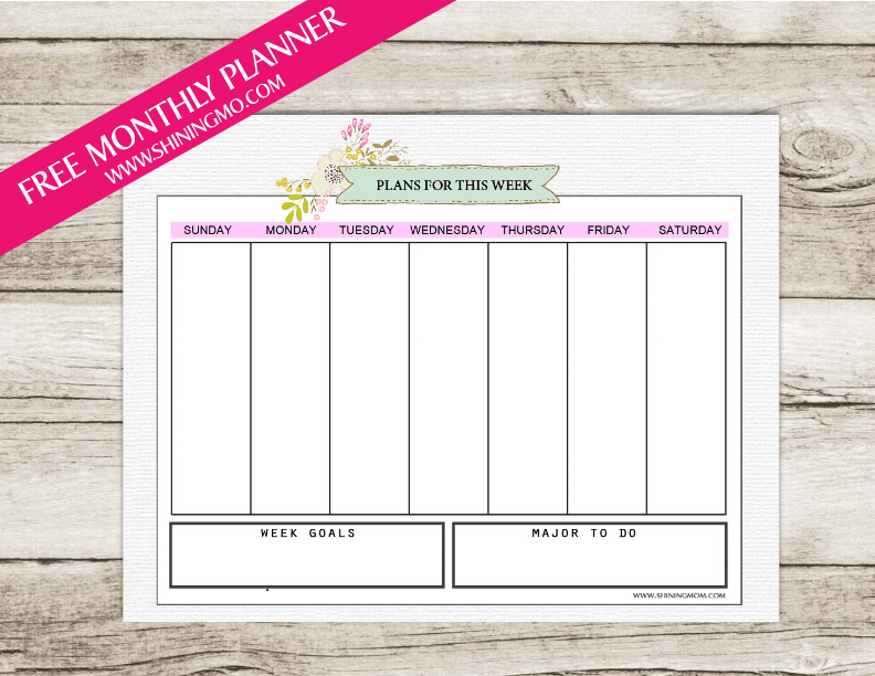 free-december-monthly-planner