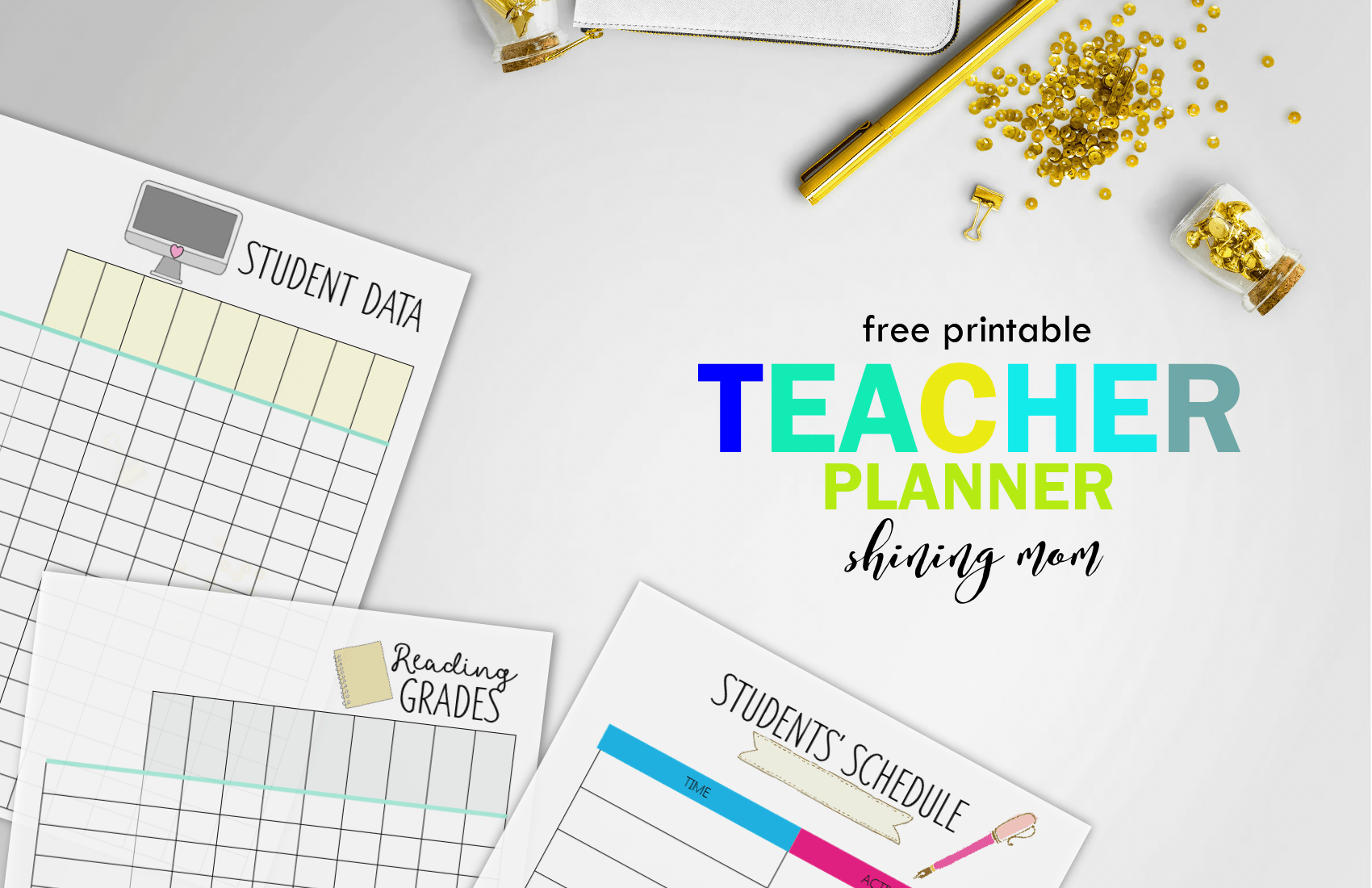 free teacher binder printables