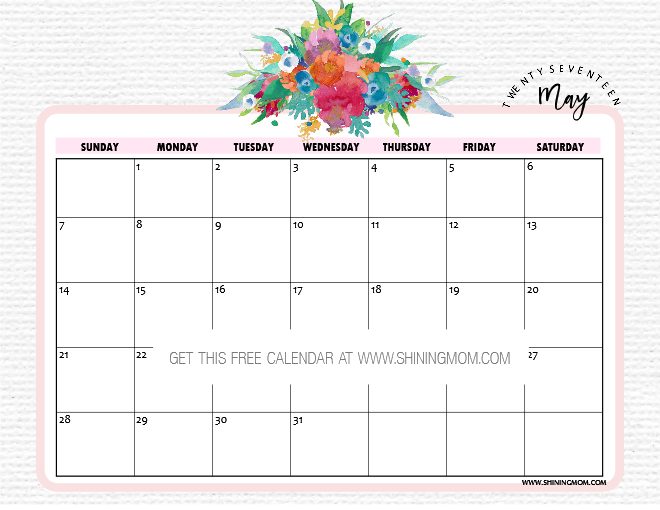 May Calendar Designs : Free printable may calendars awesome designs
