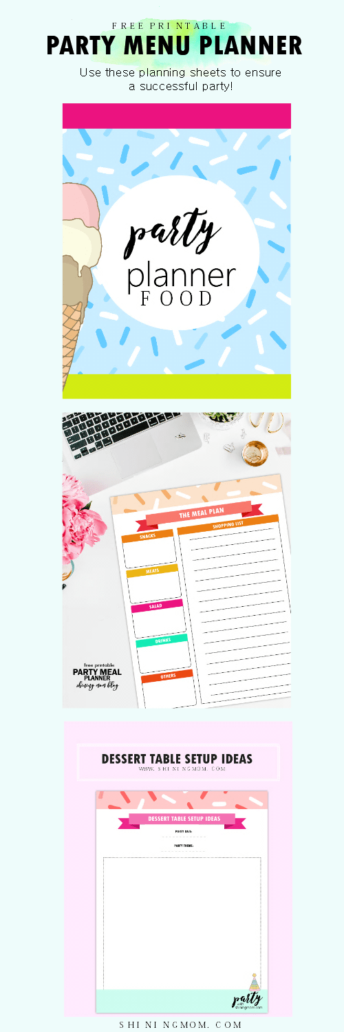 Easy Menu Planner for Your Kid's Birthday