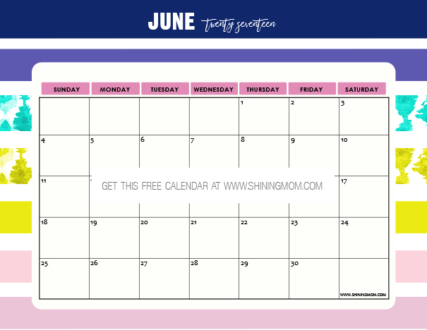 june 2017 calendar with tithing stories