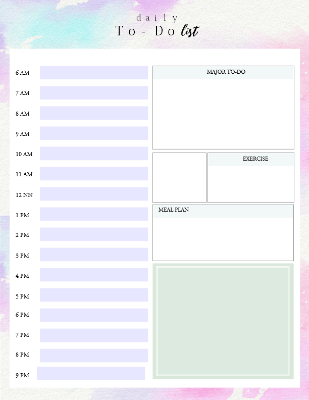 Printable Daily To Do List Template to Get Things Done – Free Printable Daily to Do List Template