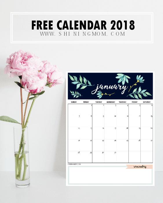 free calander 2018